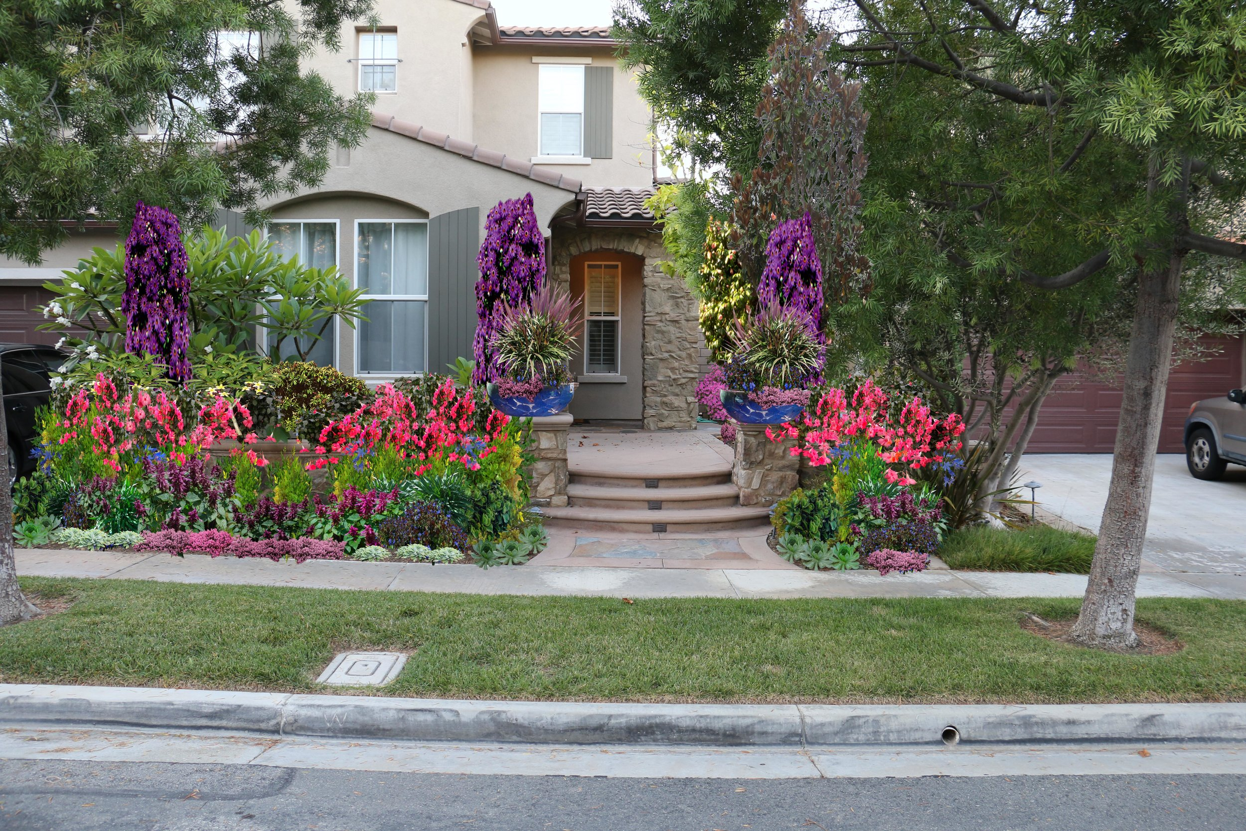 Front Yard, Design Rendering  Irvine, CA