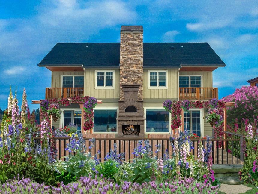 Front Yard, Design Rendering Sisters, Oregon