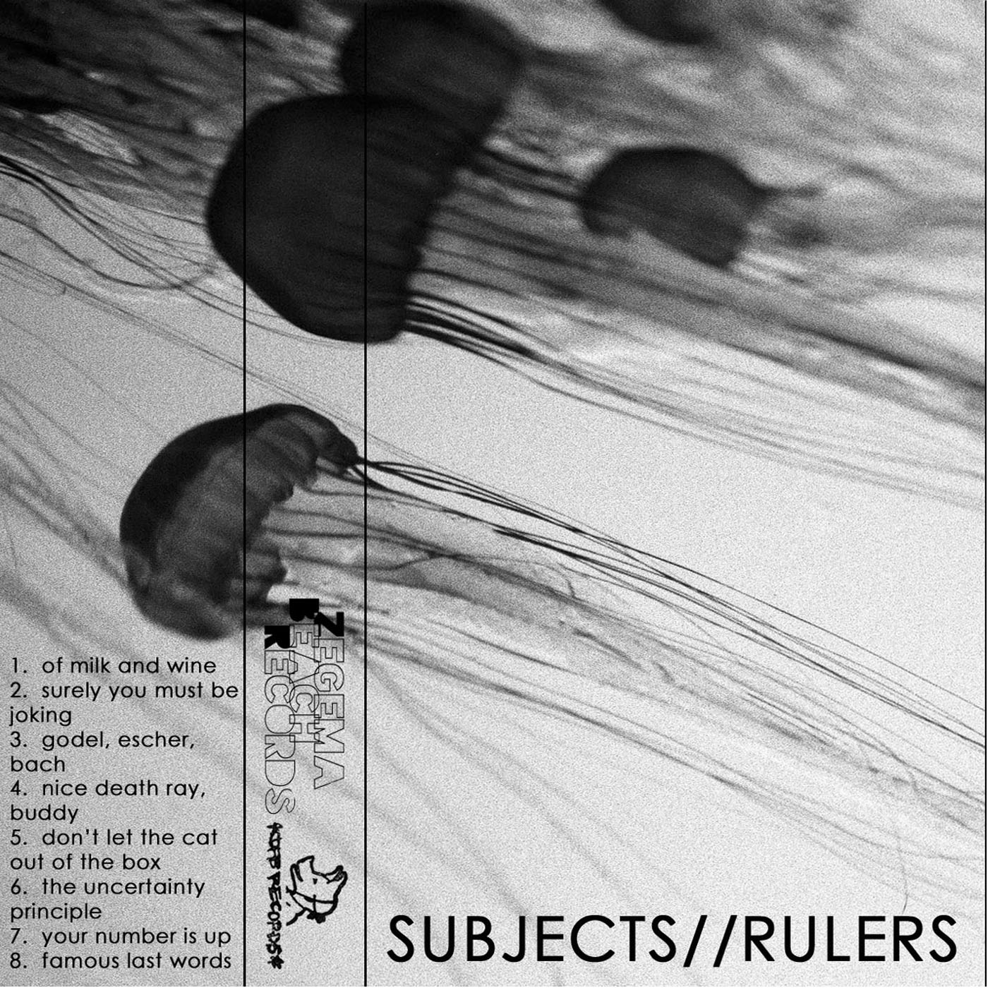 Subjects Rulers - s/t Cassette - SOLD OUT