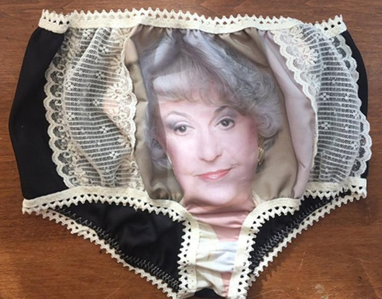 If I had these magnificent panties, I'd never throw them anywhere. You'd have to pry them from my dead, cold crotch.