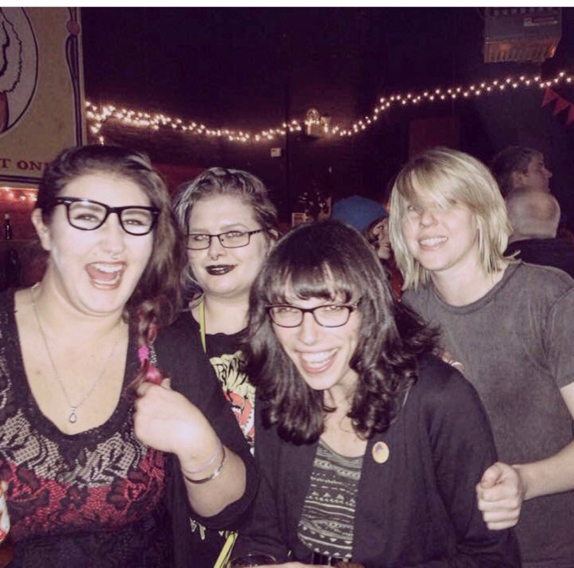 Brittany and her Portland besties, the Buffy gang: Norita, Brittany, Kaitlyn and Brooke.