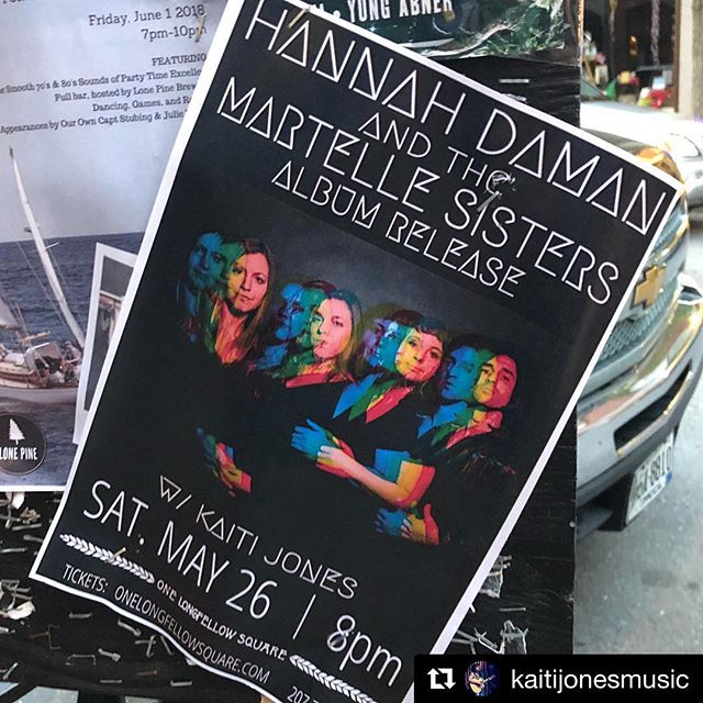 #Repost @kaitijonesmusic ・・・ Spotted in the Old Port! See you all tomorrow night, 8pm at @olsportland! I'll be kicking off the celebrations for the album release show of @sibyllinetheband (@hannahdaman @meganlangleymartelle ) - ALSO expect to see multiple Joneses on stage ! 🙌🏻👨👧👦🤙🏻