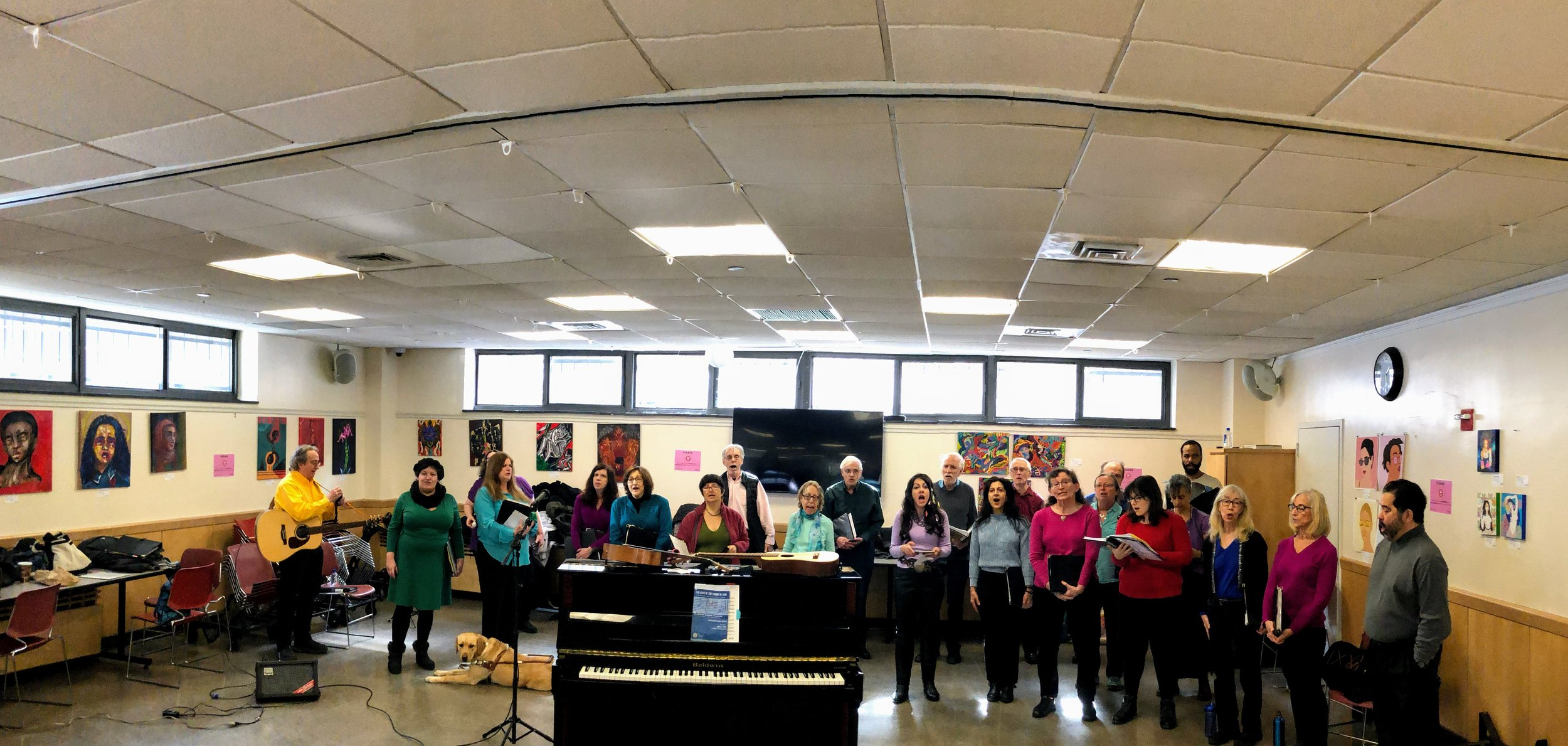 The choir at   Goddard Riverside Community Center