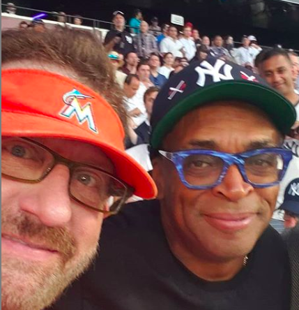 Marlins Man at London Series with Spike Lee