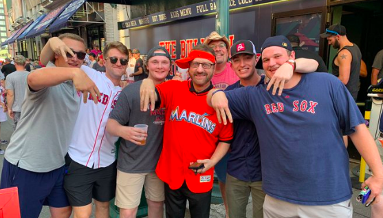Marlins Man at Fenway Park for Sunday Night Baseball - 7/28
