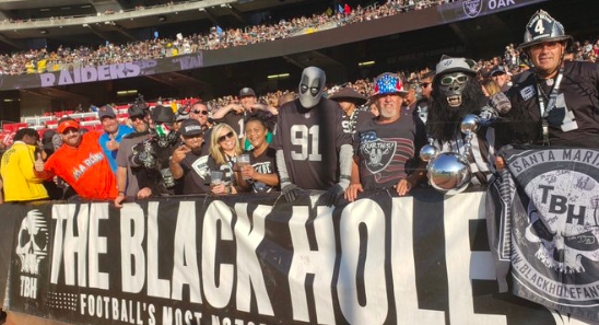 Marlins Man at Raiders preseason game - 8/10