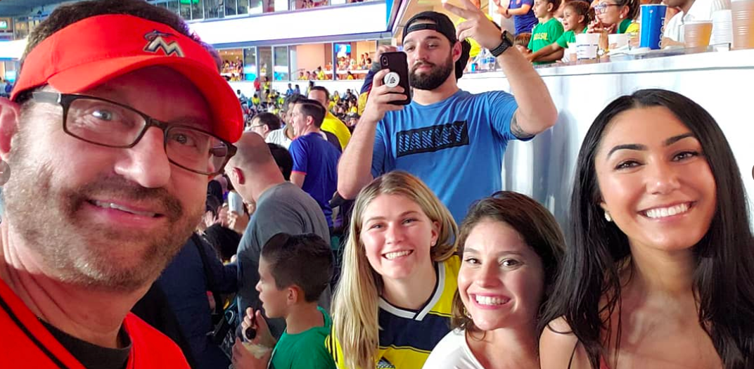Marlins Man at Brazil-Colombia- 9/6