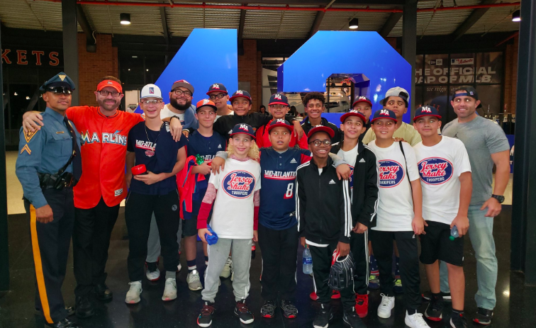Marlins Man with Little League World Series team at Citi Field- 9/14