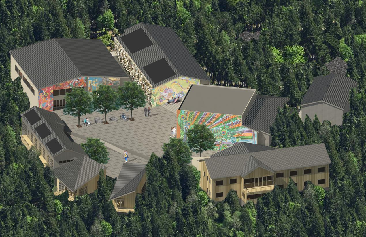 Artist's conception of the future Art Farm facilities.