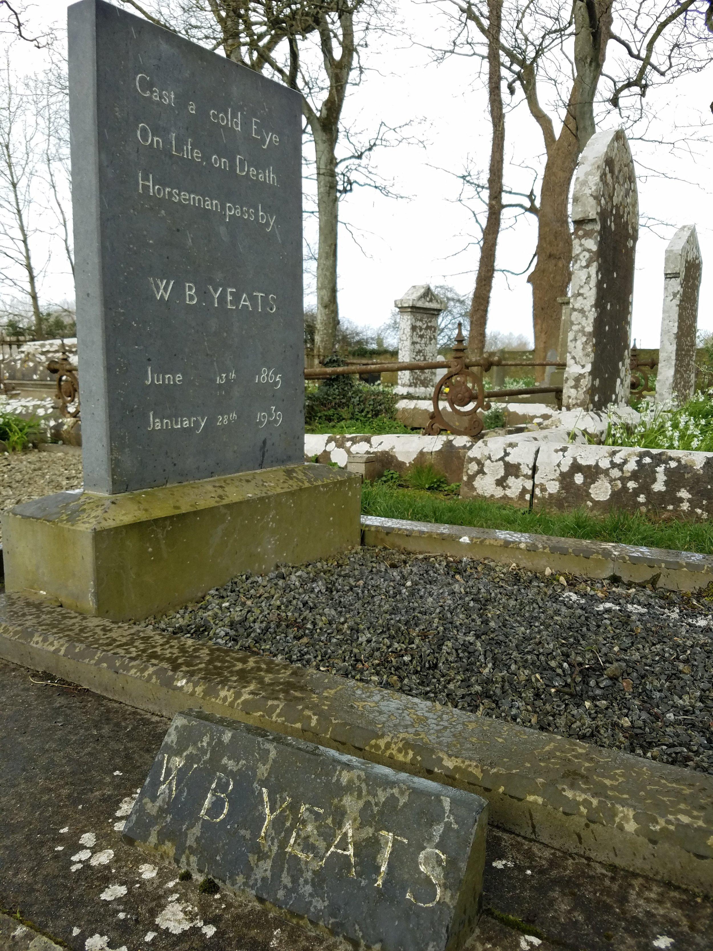 Yeats' grave in Sligo, Ireland