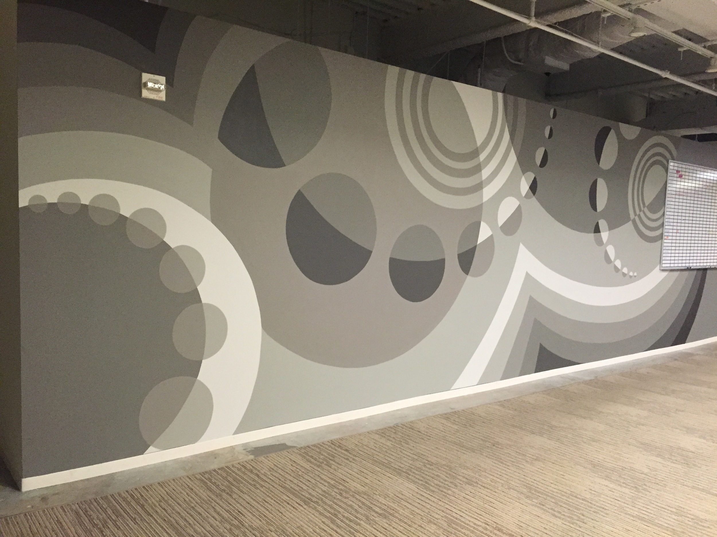 Grayscale Mural for LiquidHub– an Advertising Agency in Downtown Atlanta / 2016