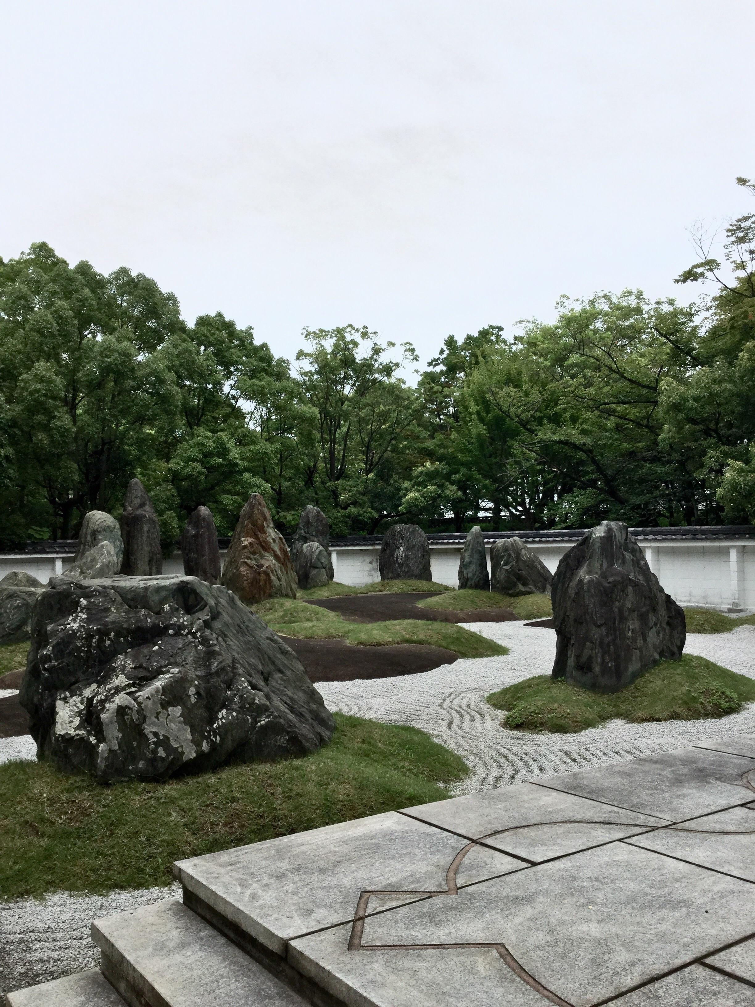 Osaka Castle, Zen Garden.