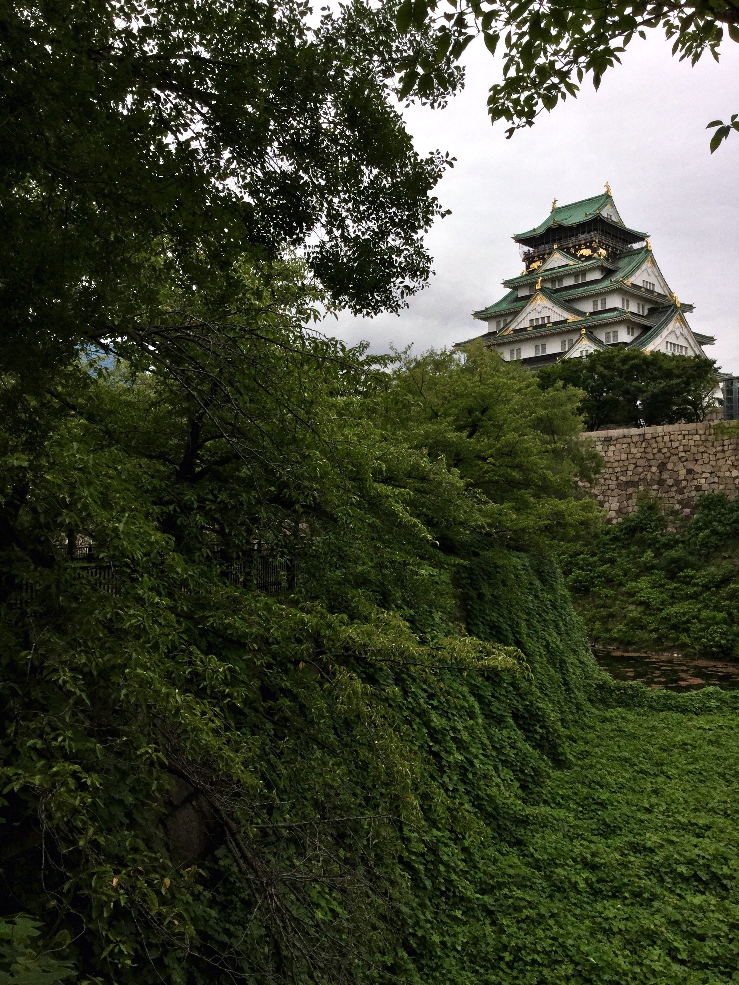 Osaka Castle, Nature is a reacouring theme.