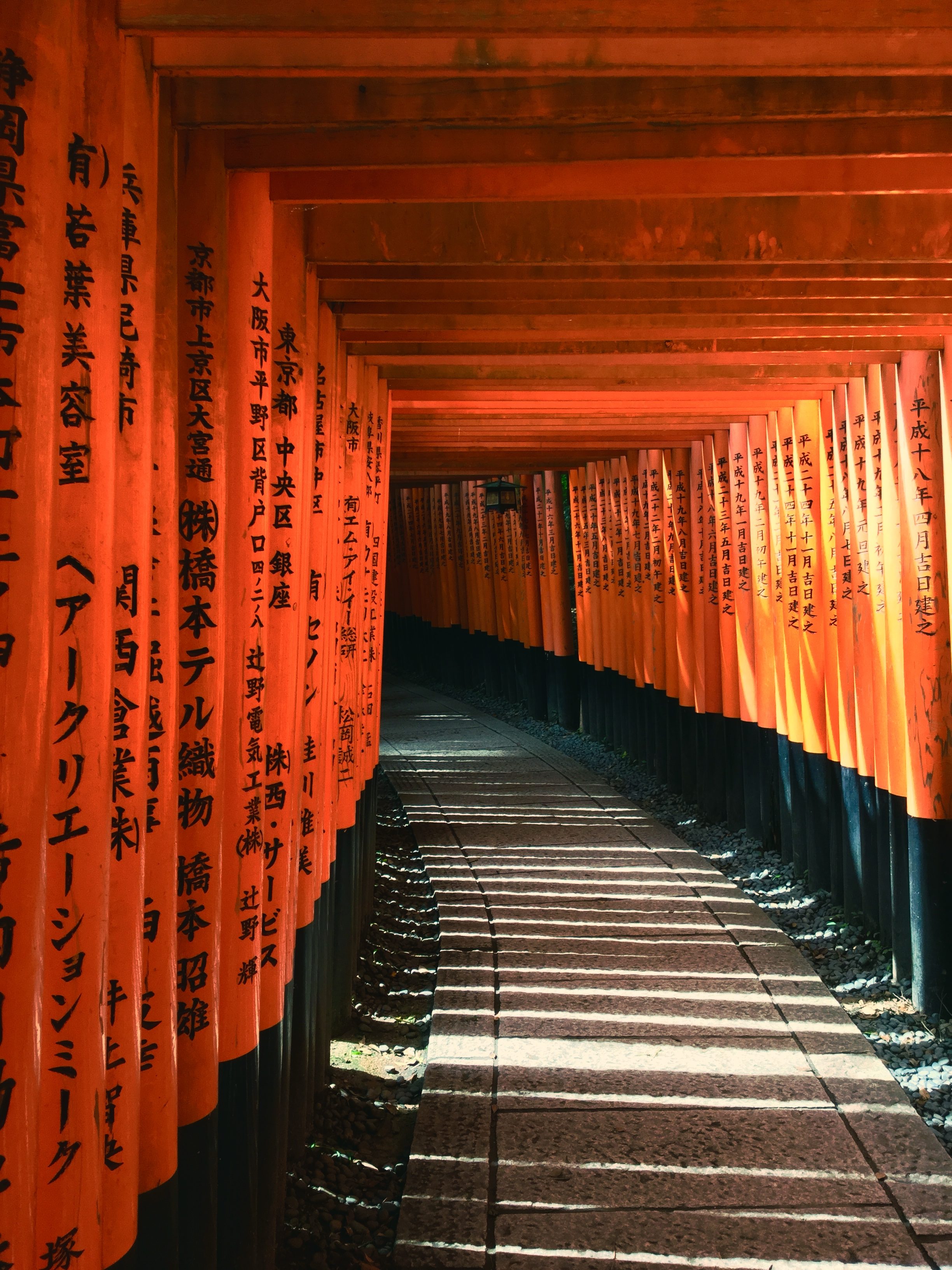 Path leading to  Fushimi Inari Shrine.