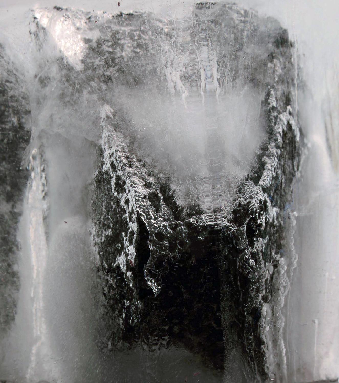 Macro Close Up of Ice and Volcanic Rock. ('Intermediate')