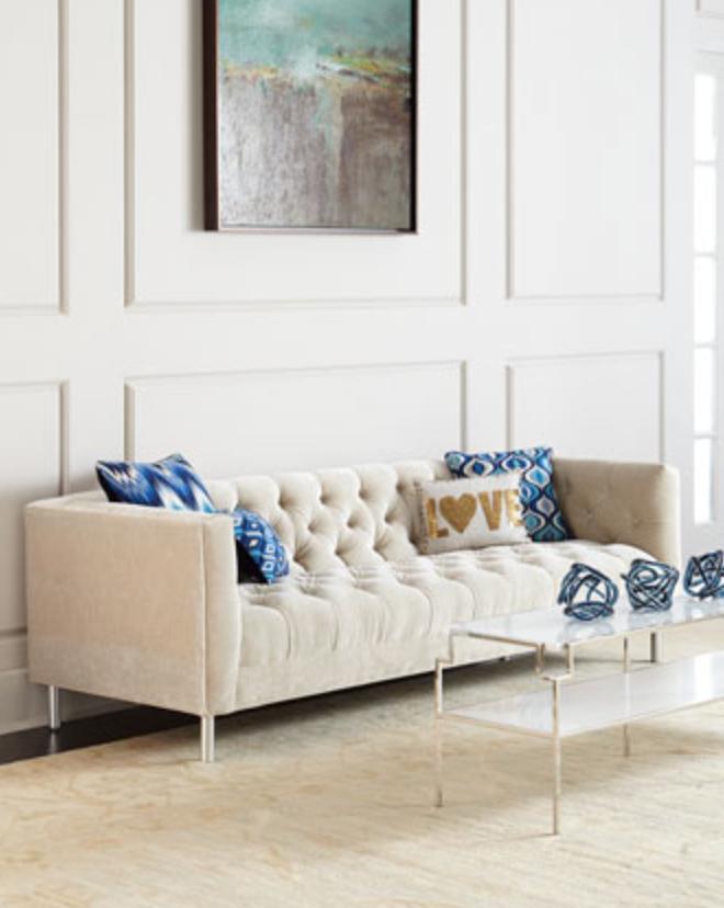 Baxter Sofa by Jonathan Adler   shown