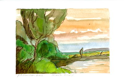 River Study  by P. Allen Smith from   Allison Sprock Gallery
