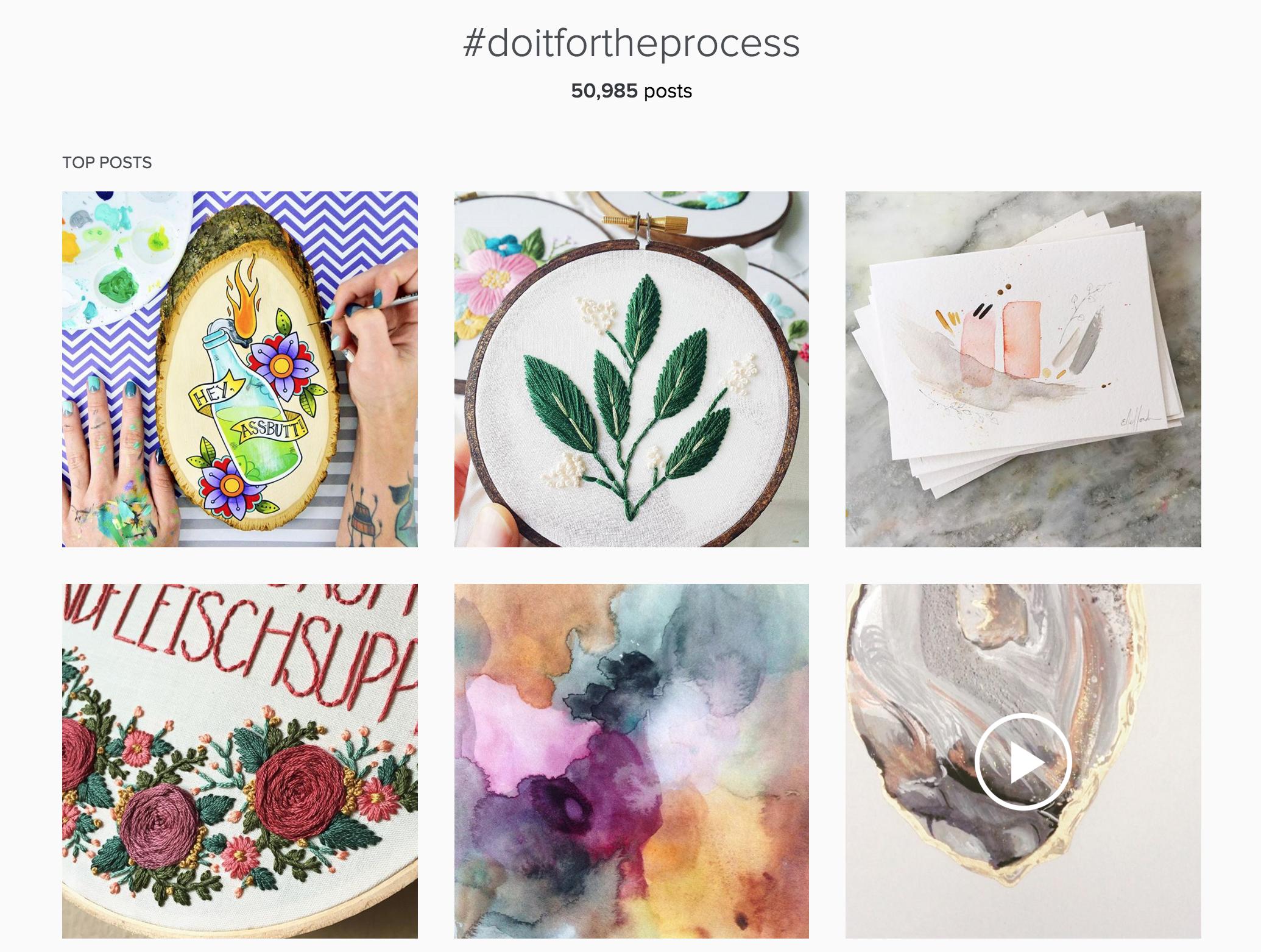 #doitfortheprocess Instagram Feed