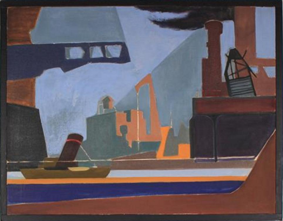 Artist Seymour Tubis, 1945