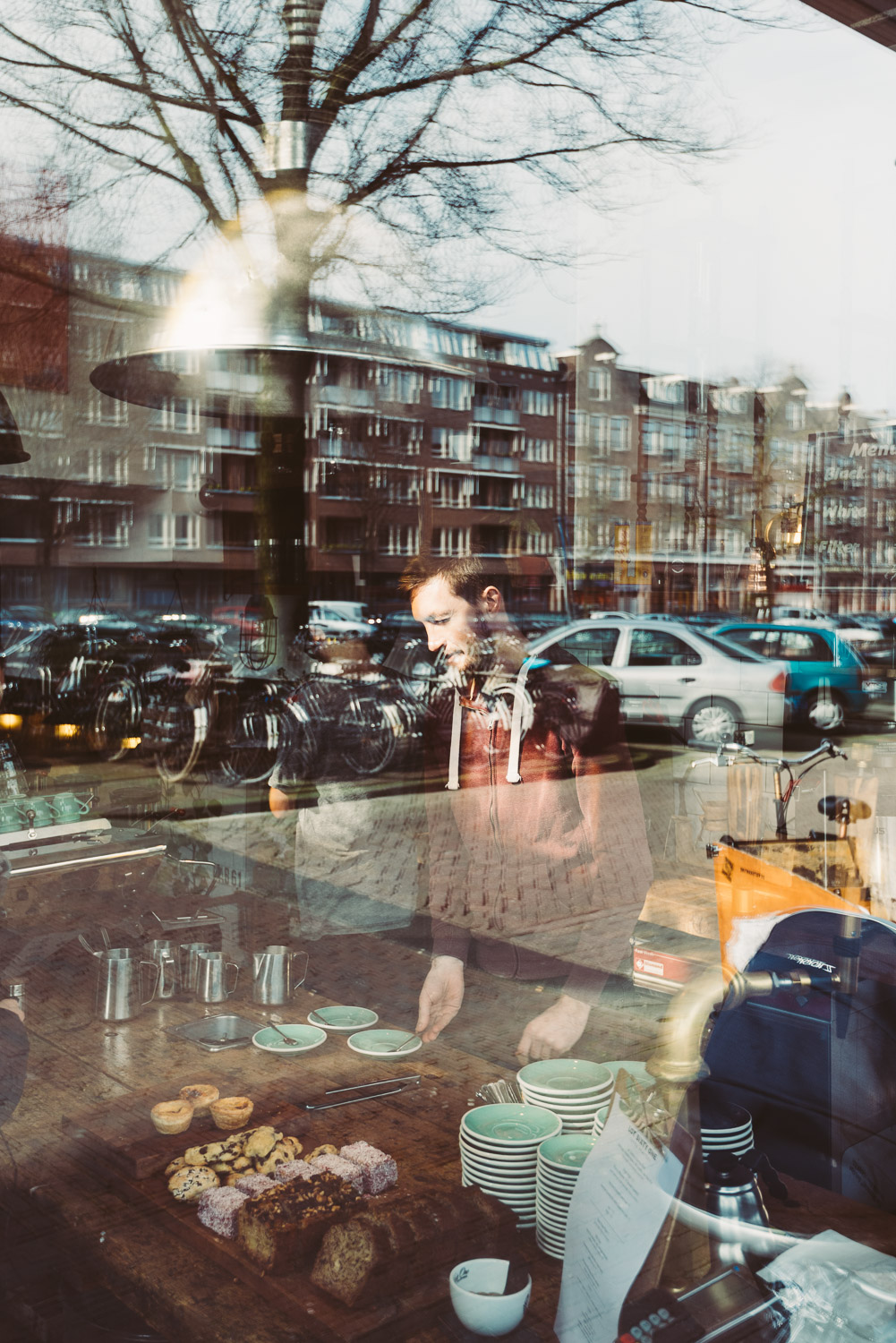 Lot Sixty One Coffee Roasters in Amsterdam - View from outside