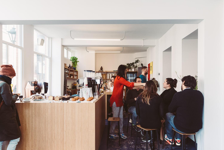 TOKI coffee shop in Amsterdam - People