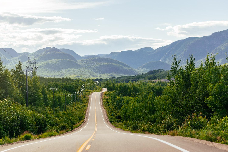 Sur la route, vue imprenable sur les Laurentides - Toutes les photos sont sous Copyright © 2016 Jeff Frenette Photography / dezjeff. Pour utilisation des photos, me contacter au dezjeff@me.com