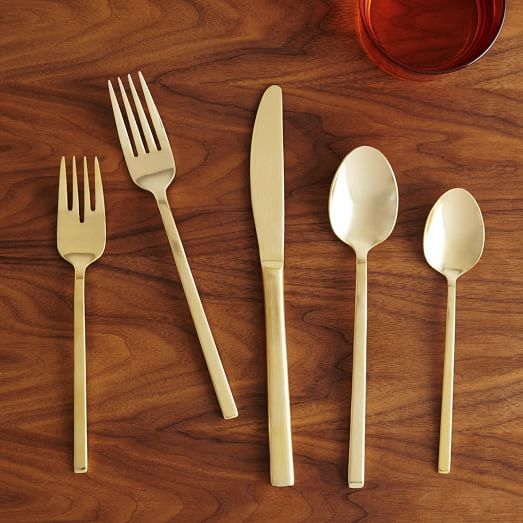Gold utensil set by west elm - HOME GIFT IDEAS - THE ULTIMATE GIFT LIST FOR MODERN MEN