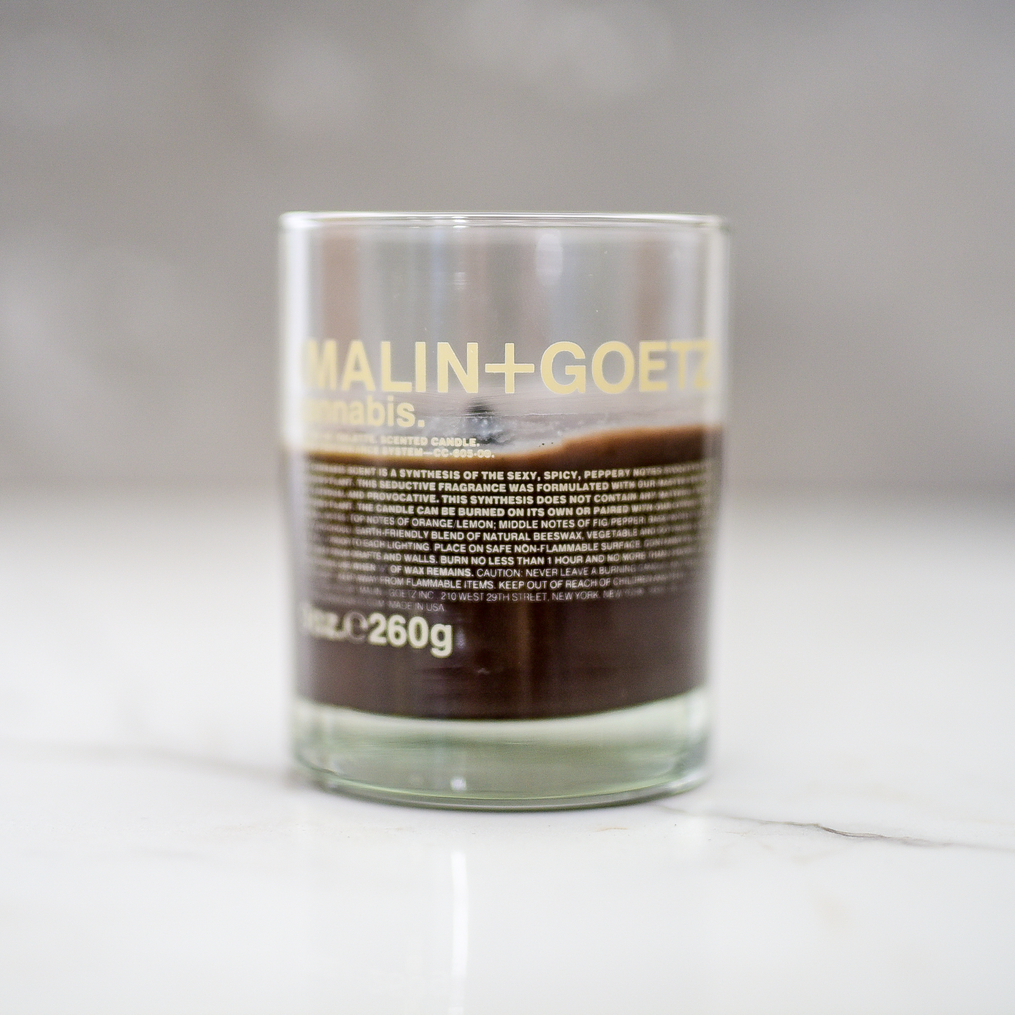 (MALIN + GOETZ) Cannabis Candle - HOME GIFT IDEAS - THE ULTIMATE GIFT LIST FOR MODERN MEN