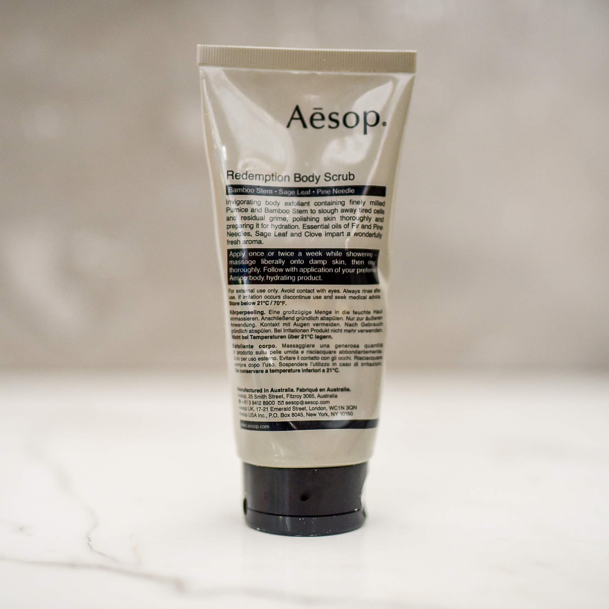 Aesop Redemption Body Scrub - GROOMING GIFT IDEAS - THE ULTIMATE GIFT LIST FOR MODERN MEN