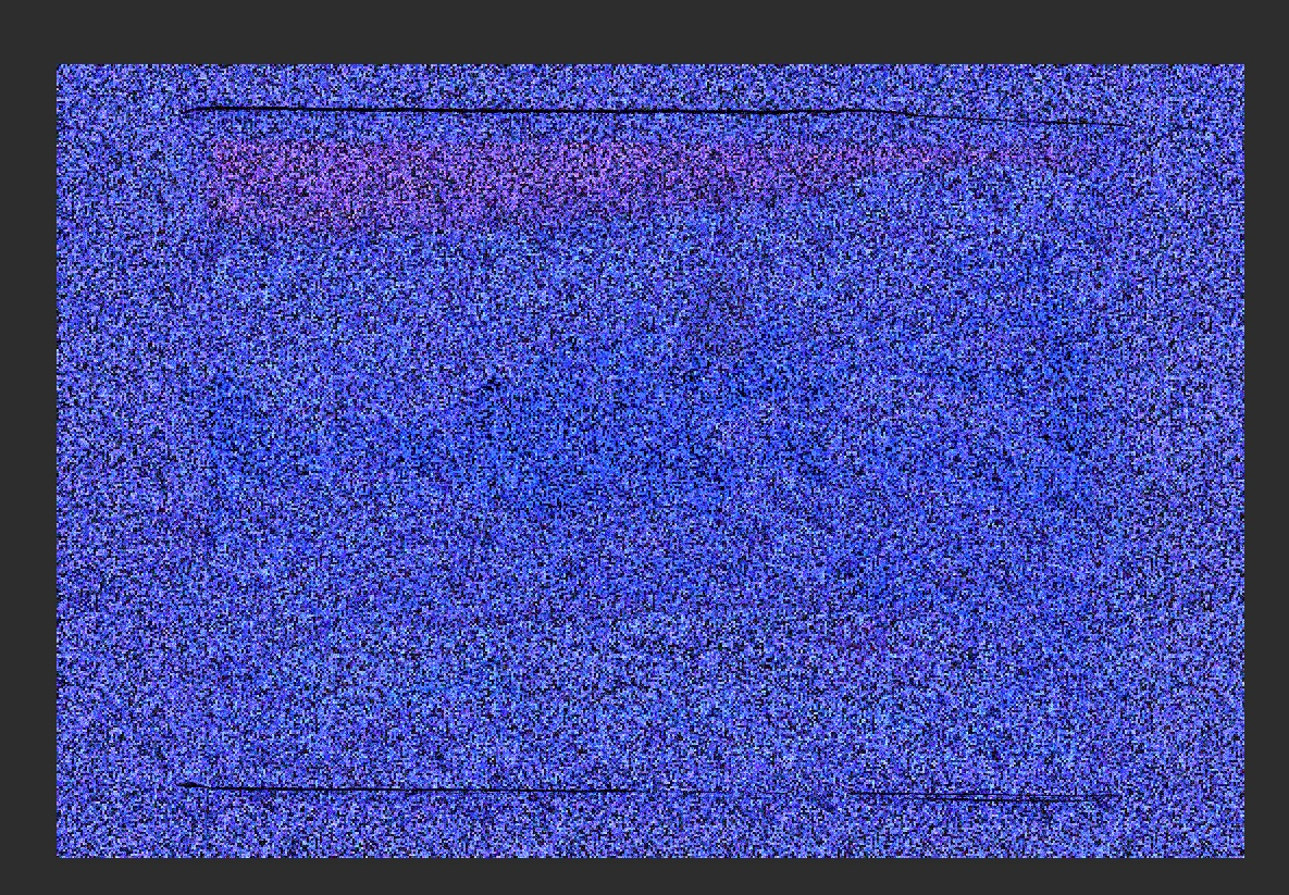 One way the Computer sees it... (accentuated blue channel)