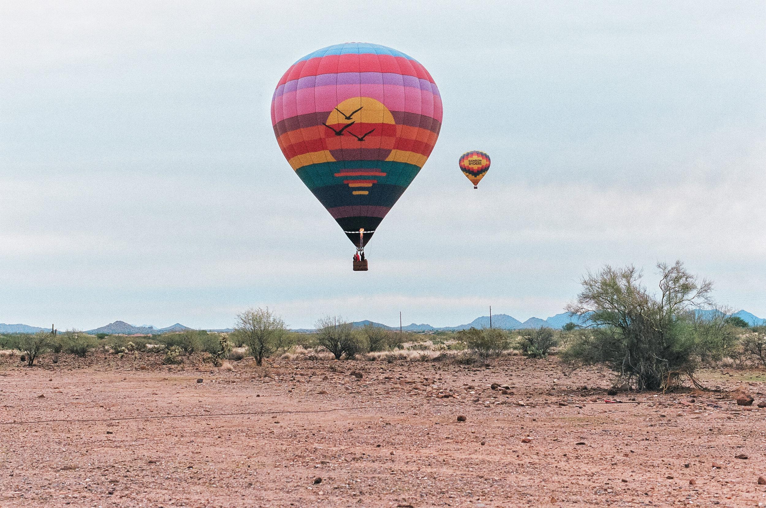 hot air expeditions hot air balloon arizona