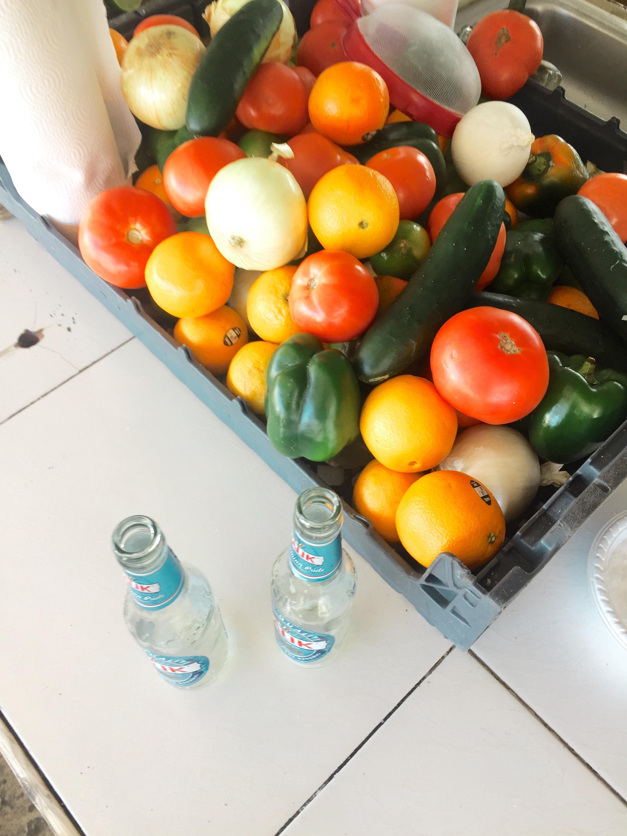 fresh vegtables at nassua market