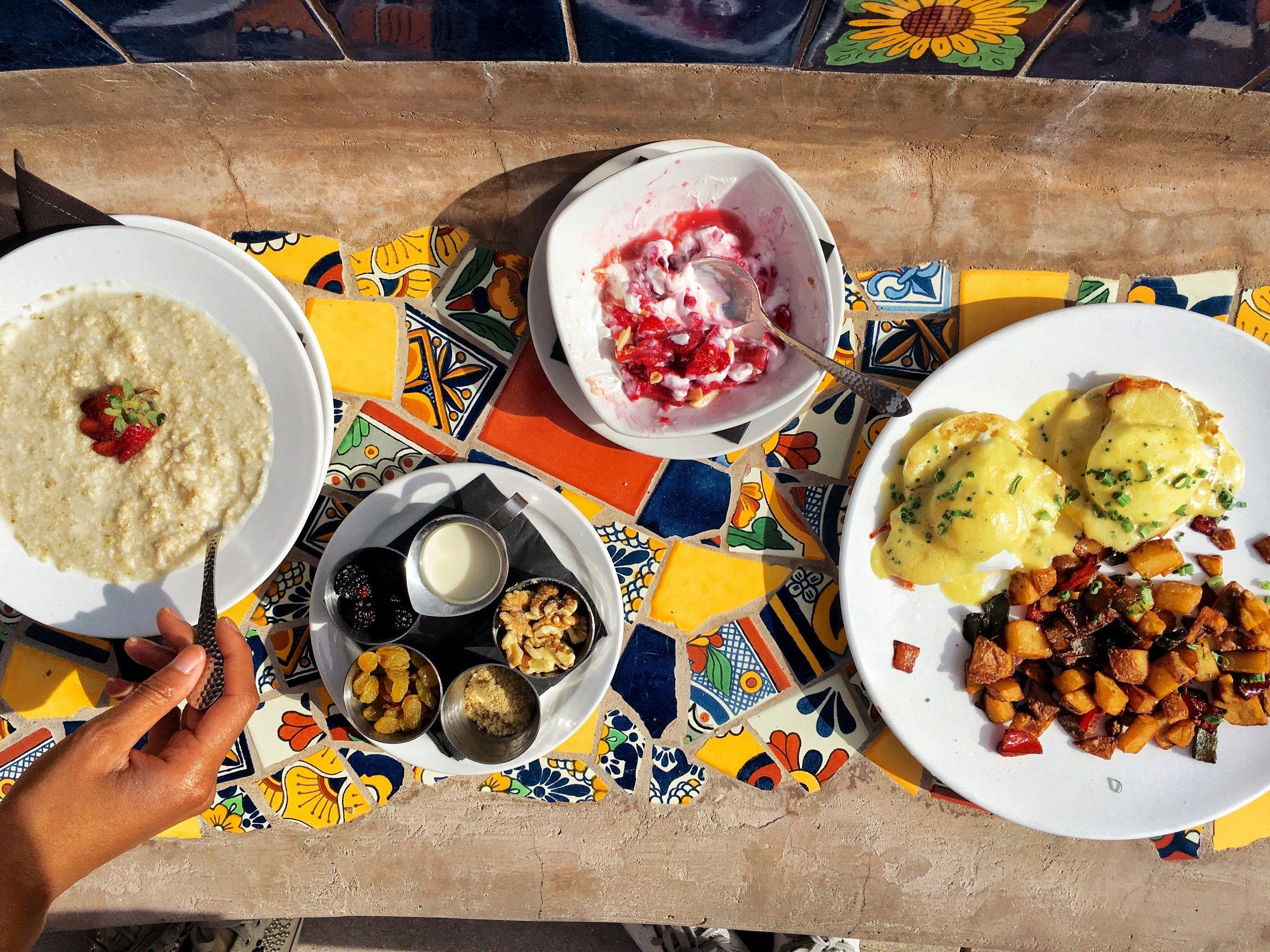 breakfast at hacienda del sol