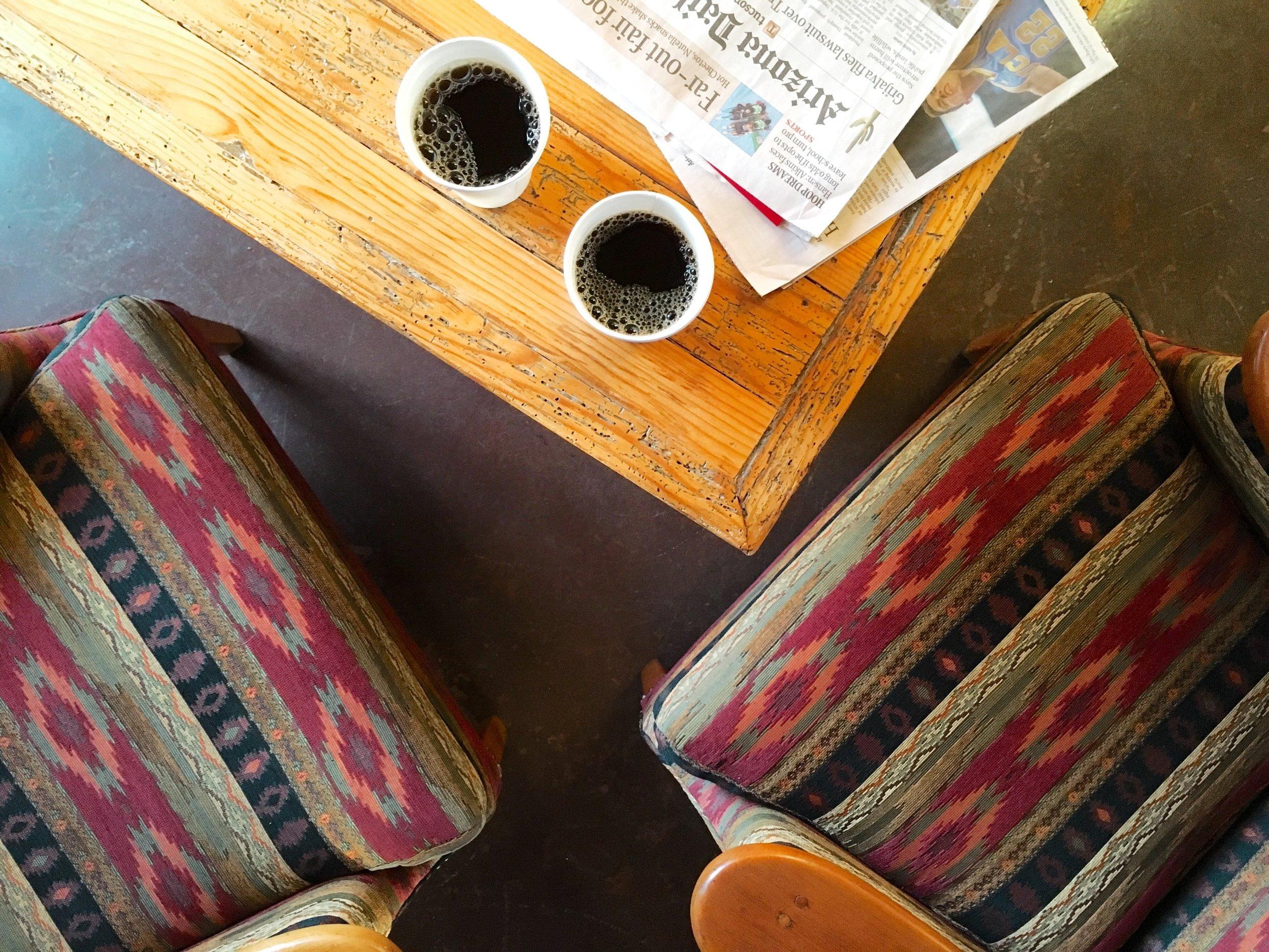 coffee break at hacienda del sol