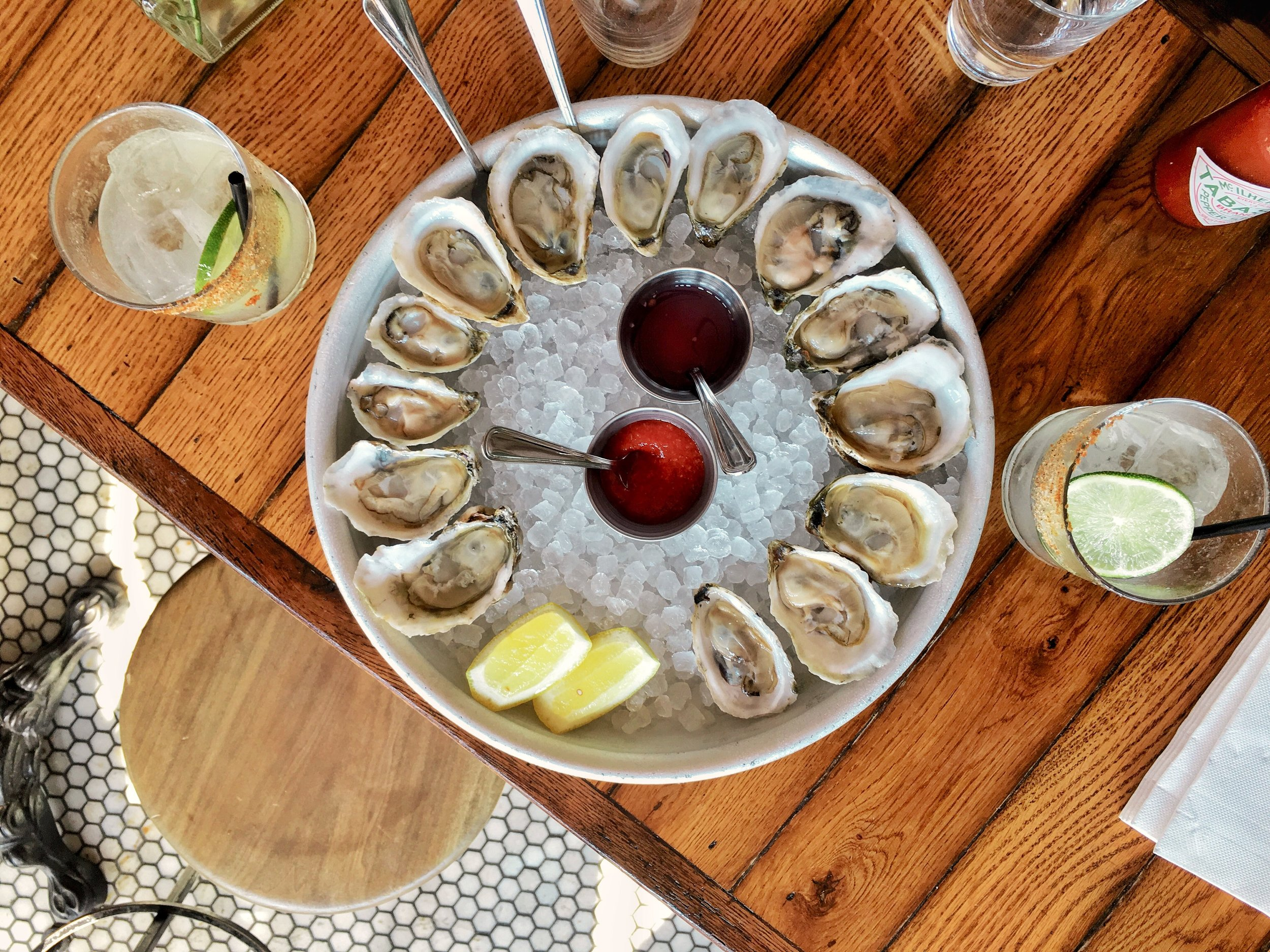 oysters at goodnight sonny
