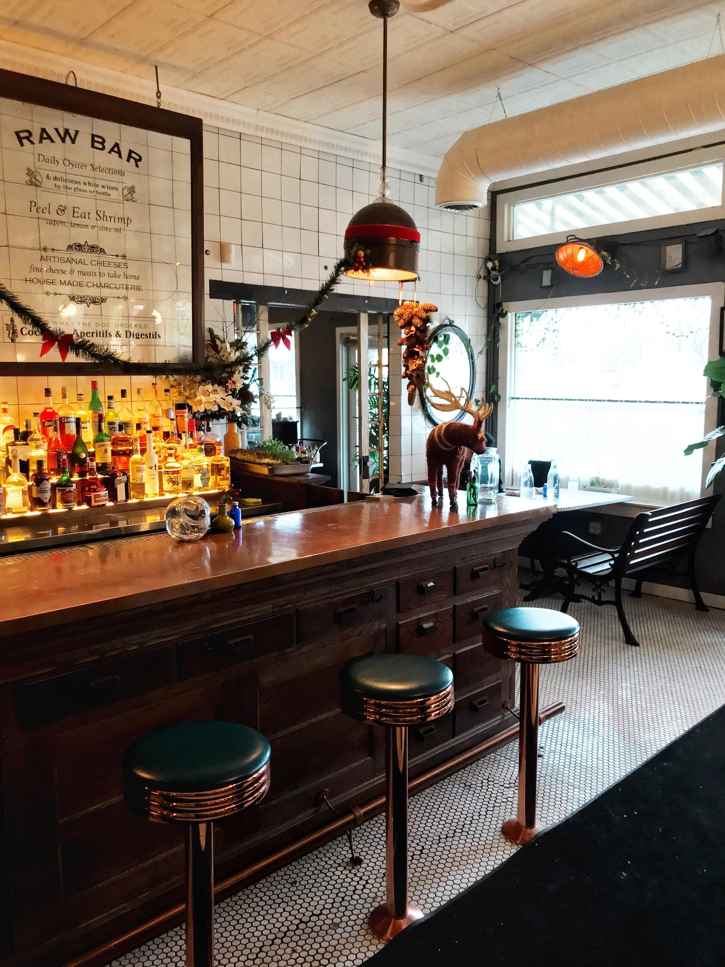 bar at hillside farmacy