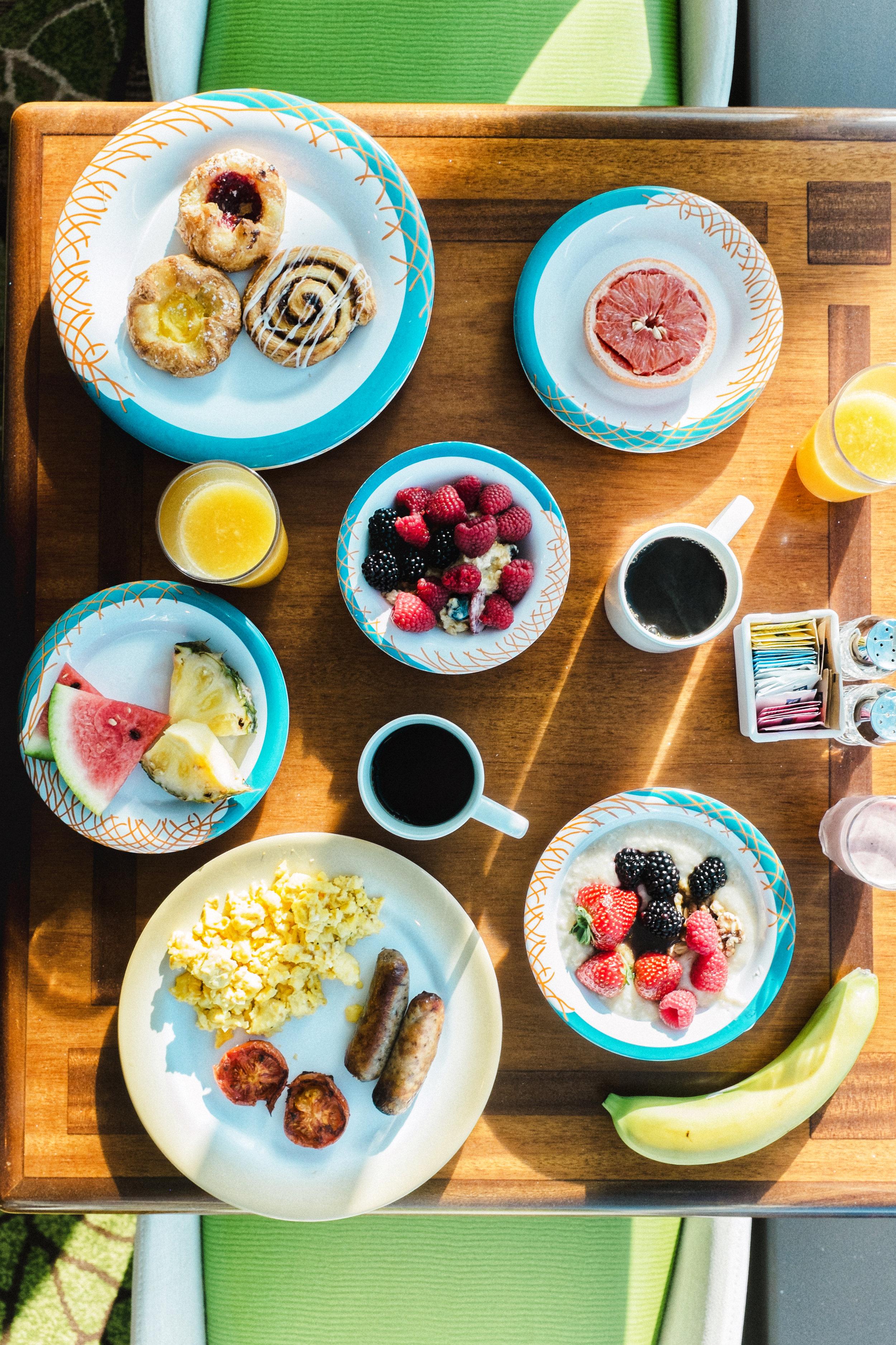 breakfast spread on royal caribbean