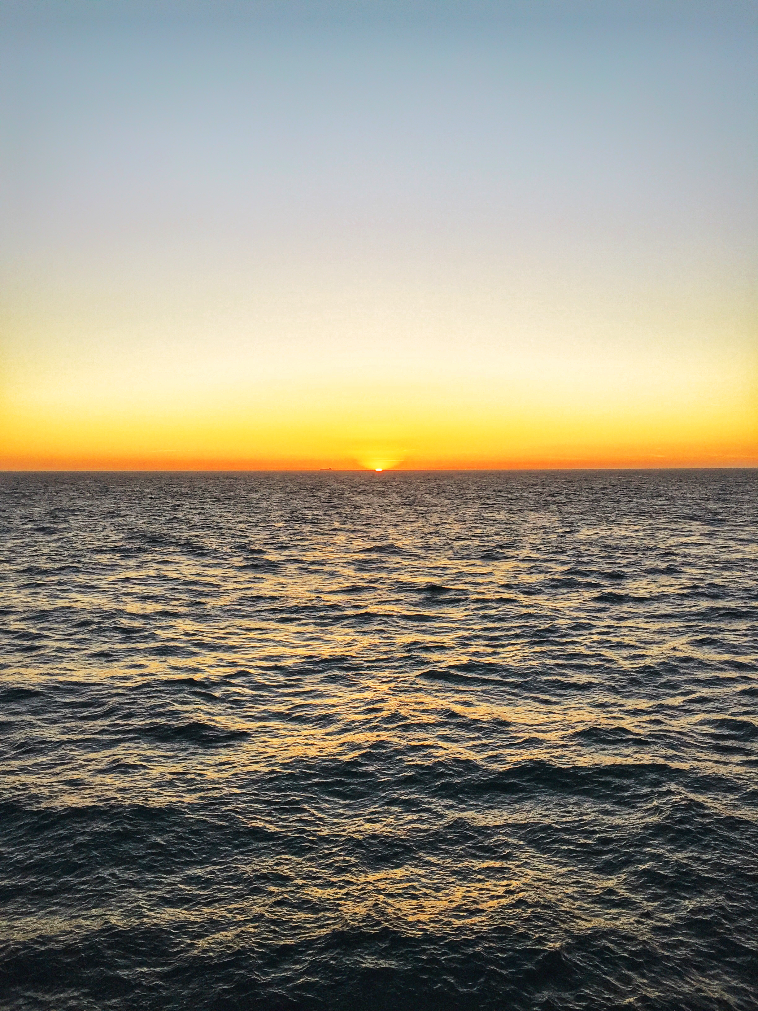 sunset over the english channel