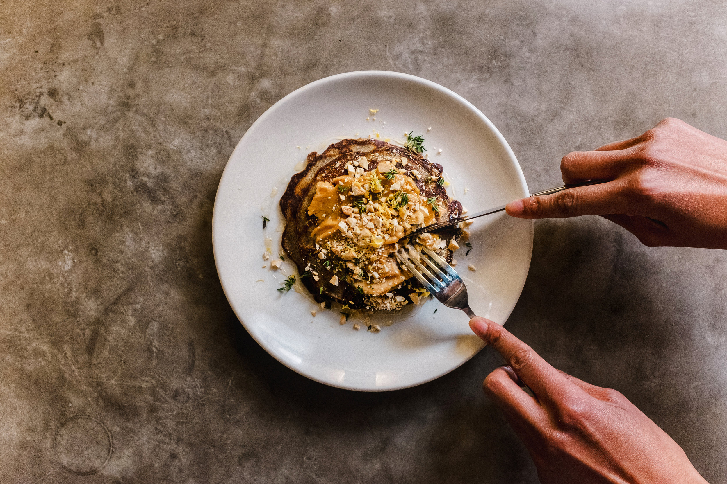 buckwheat pancakes at bar beau
