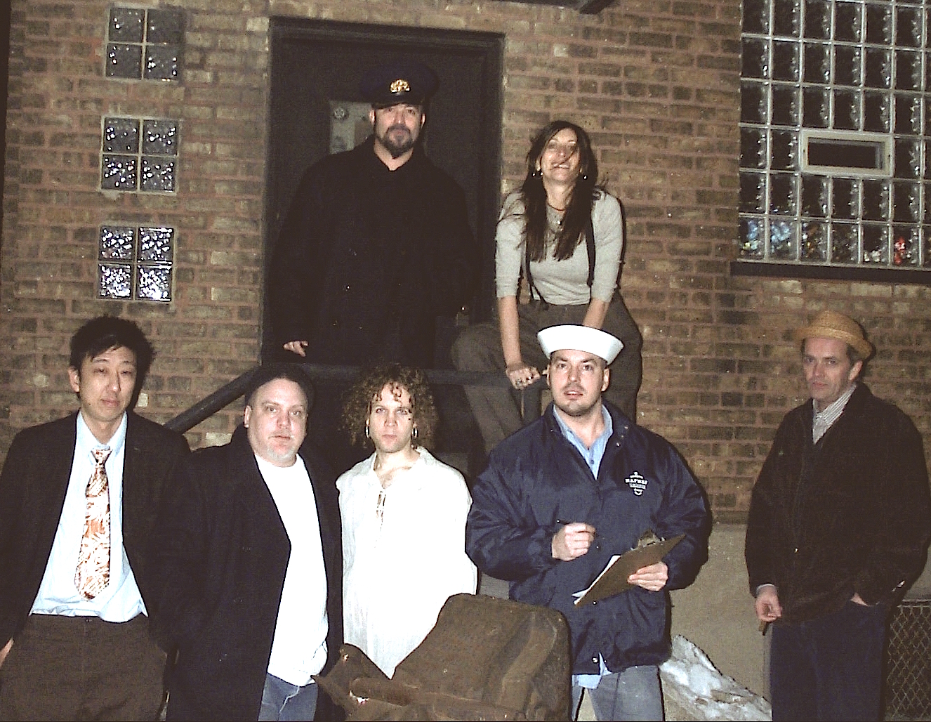 Lost Souls of the Great Lakes, outside their 1st gig at the Hideout, Chicago, winter, 2004: Photo by  Bob Reveley