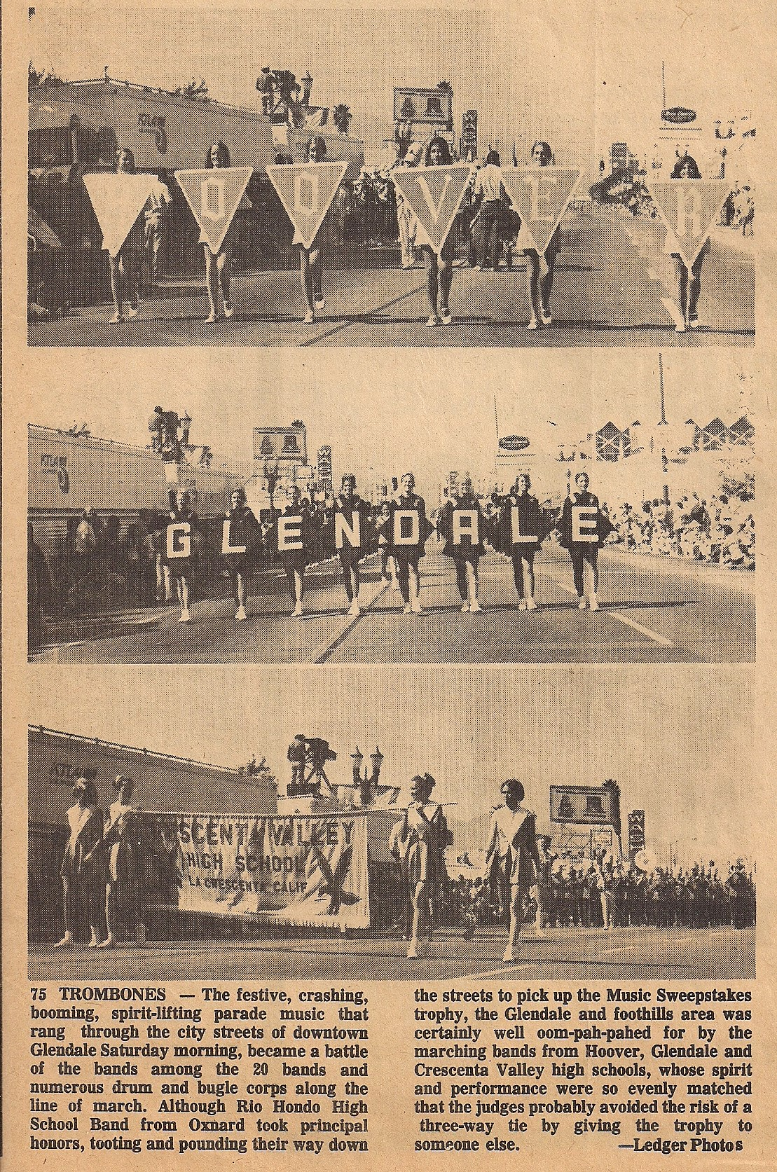 "Article ""...at the parade"" in The Ledger"