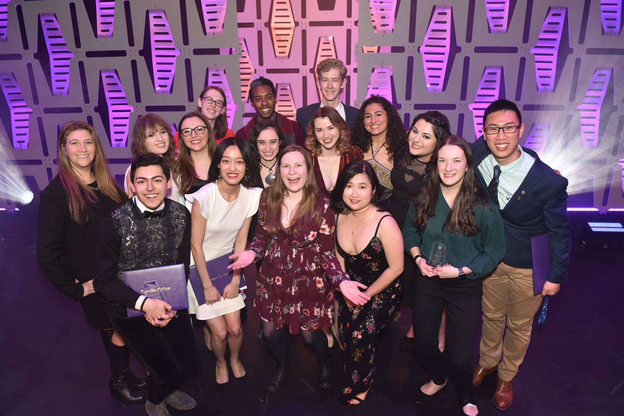SGA 2017-2018 at the 2018 Emerson Recognition & Achievement Awards