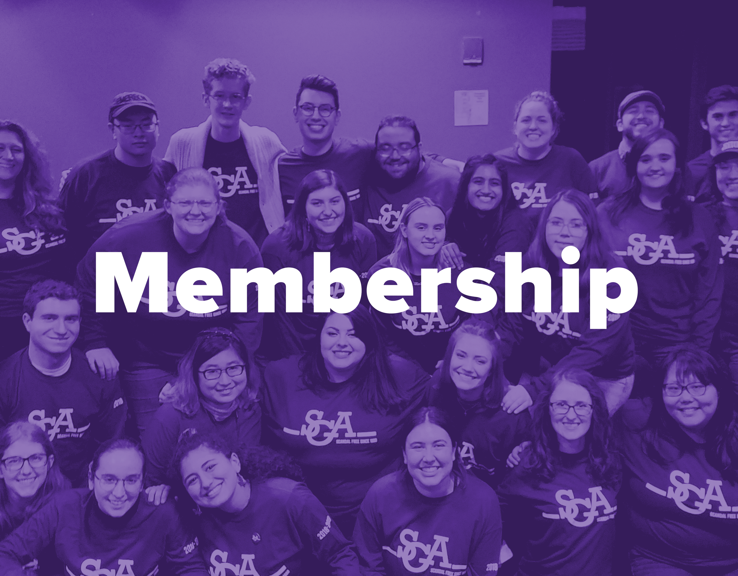 Membership - Run for office or apply for an appointed position. Serve your peers in a variety of different ways in student government and help create real change.