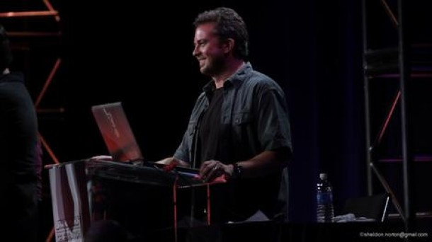 Jimmy Mac onstage.at Star Wars Celebration VI in Orlando in 2012