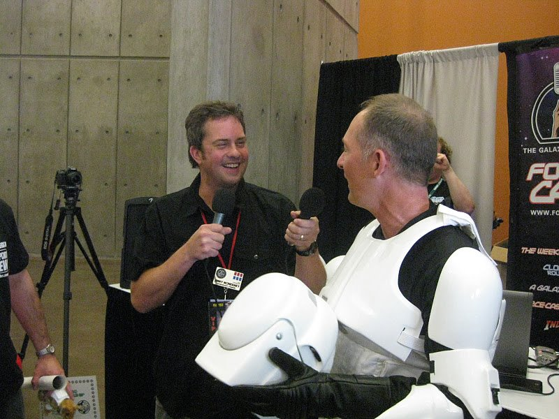 Jimmy with Clone Wars actor Stephen Stanton (Tarkin)