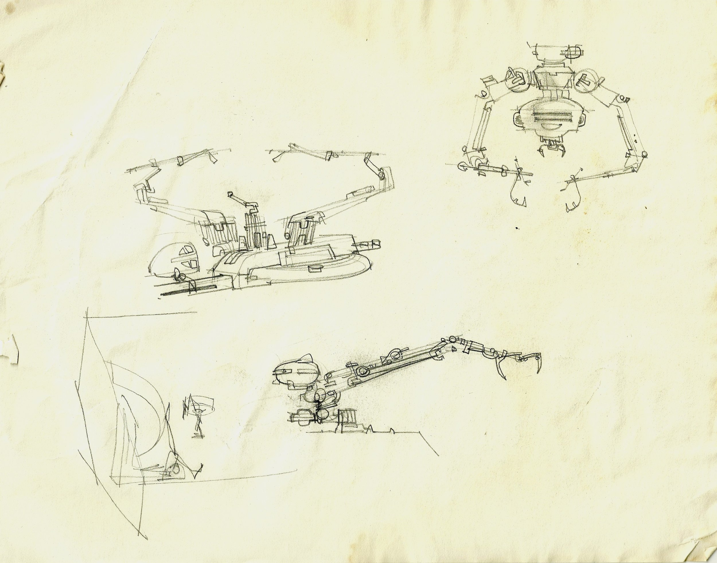 Concept art for a medical droid, or part of one, for THE EMPIRE STRIKES BACK- The Christopher Corey Smith Collection