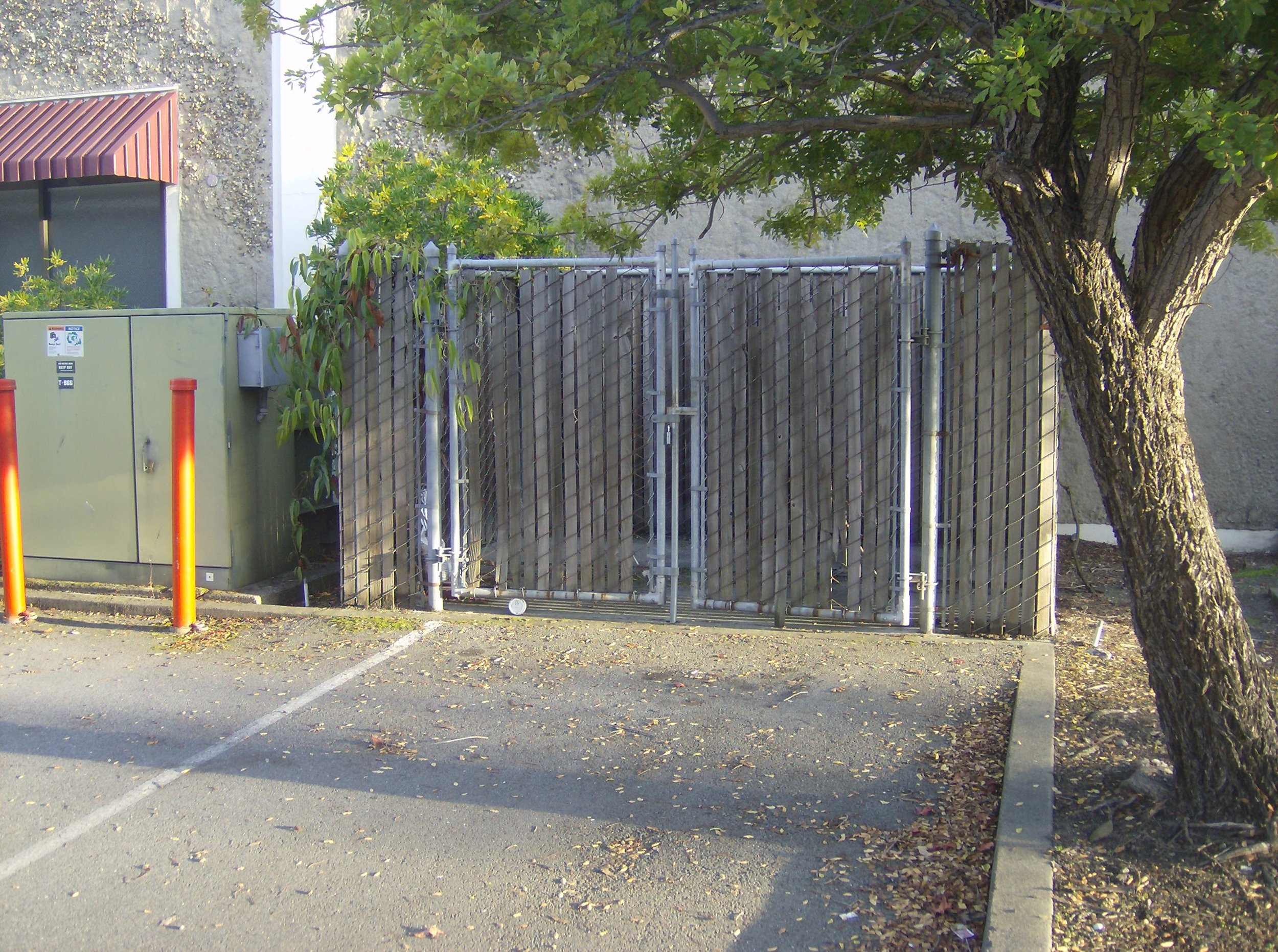 The dumpster enclosure at ILM where Christopher and his friends saved historical STAR WARS artifacts- The Christopher Corey Smith Collection