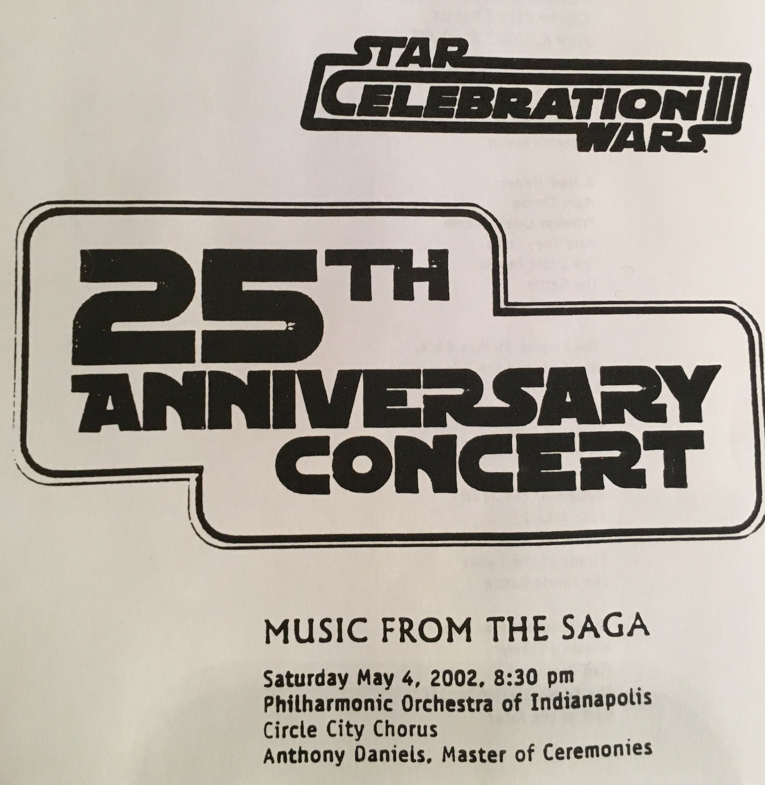 Scan of program cover from the concert