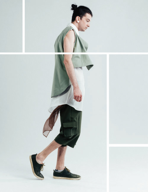 Designer: Nina Boschman  Model: Ty Lorenc