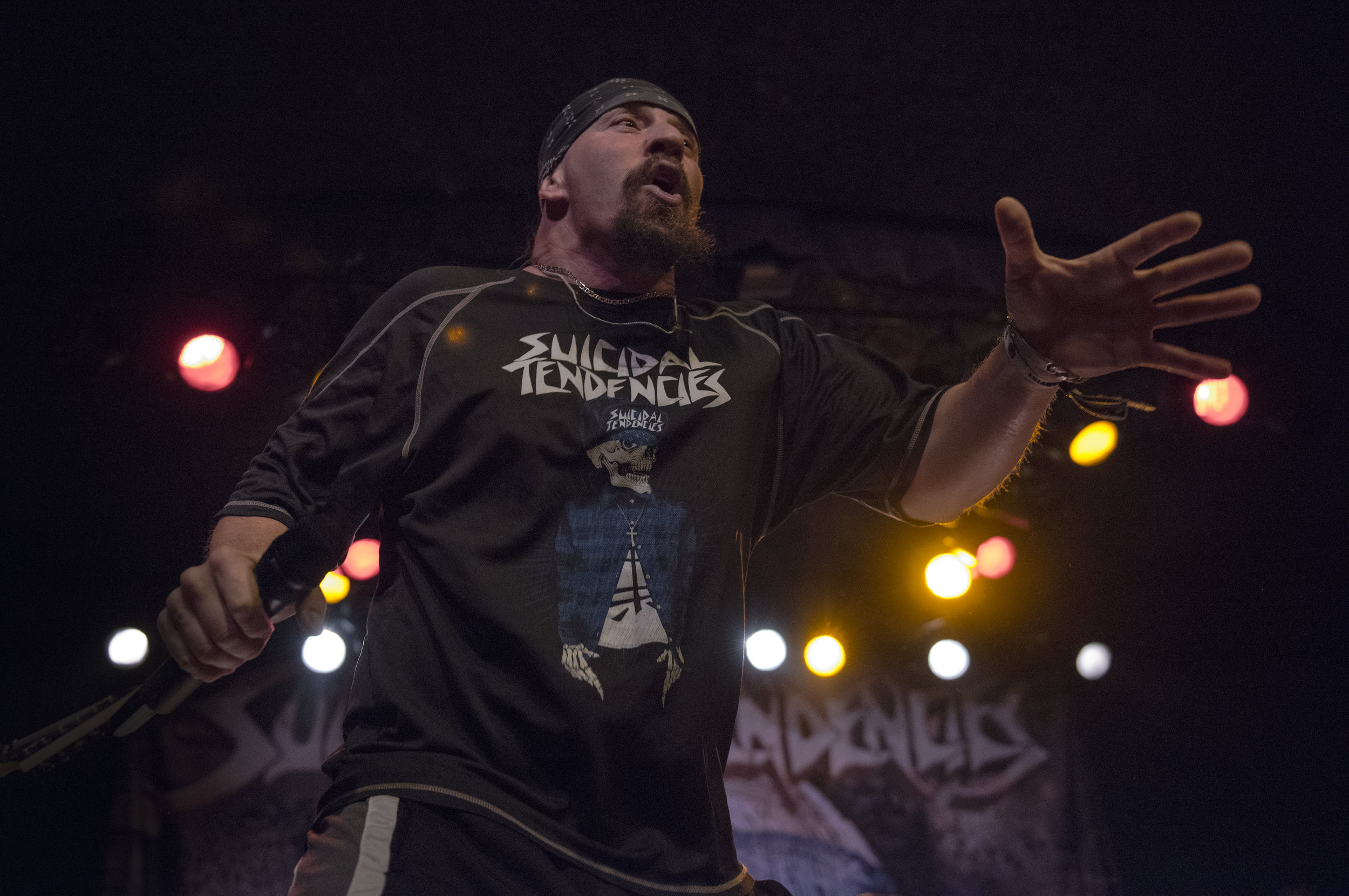 Suicidal Tendencies.  Mike Muir.  Photo by Cat Ashbee